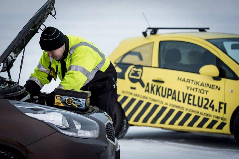 Akkupalvelu ja apukäynnistys 24h Oulu, Pohjois-Pohjanmaa, Meri-Lappi ja Lappi