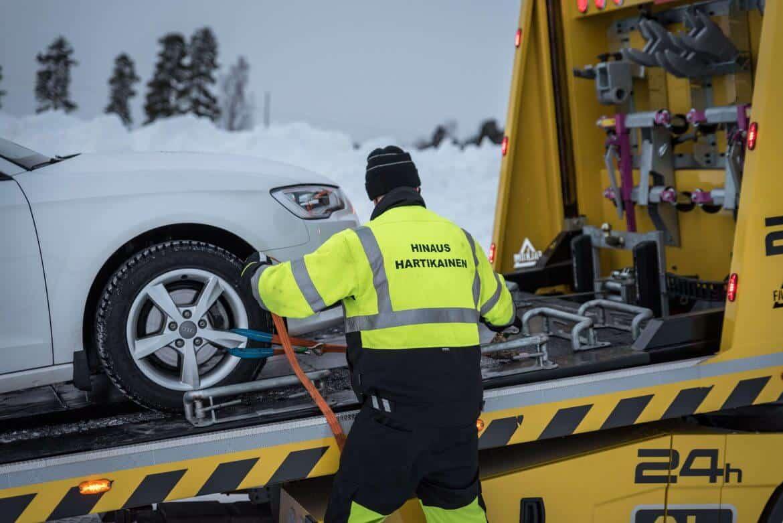 Hinaukset Oulun, Pohjois-Pohjanmaan, Rovaniemen ja Tornion teillä sekä koko Lapin alueella.